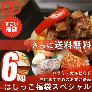 [ 訳あり 送料無料 ]はしっこ 福袋 スペシャル 6kg超え ・ハラミ・カルビ・ハンバーグ・味付き豚肩ロース・豚バラ・うでスライス・鶏むね・豚トロ・伊達巻|the-nikuya