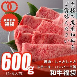 送料無料 福袋 しゃぶしゃぶ 焼肉 ステーキ ハンバーグ等、和牛の旨味を存分に楽しめる 和牛福袋(600g 4〜6人前) 黒毛和牛 牛肉 父の日 ギフト お祝い お中元|the-nikuya