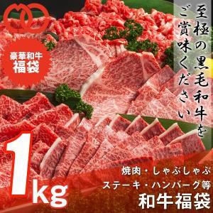 送料無料 福袋 焼肉 しゃぶしゃぶ ステーキ ハンバーグ等、和牛の旨味を存分に楽しめる 和牛福袋(1kg 8〜10人前) 黒毛和牛 牛肉 父の日 ギフト お祝い お中元|the-nikuya