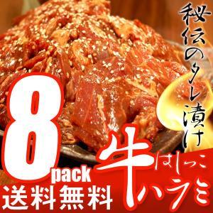 送料無料 はしっこ タレ漬け 牛ハラミ 500g×8 大容量 訳あり 業務用 端っこ はじっこ 焼肉 BBQ バーベキュー 4000g 4kg|the-nikuya