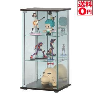 【送料無料】ガラスコレクションケース3段(背面ミラー付き)96048|the-standard