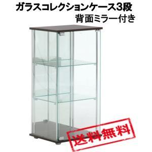 入荷しました ポイント15倍!!【送料無料】ガラスコレクションケース3段(背面ミラー付き)96048|the-standard
