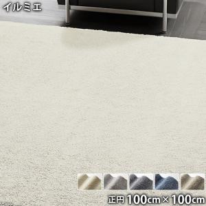 イルミエ(正円 100cm×100cm)防ダニ アレルブロック 防炎 滑り止め ホットカーペットOK 低ホルムアルデヒド アレルギー対策 円形 the-tent