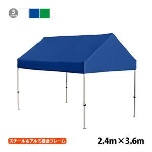 かんたんてんと切妻型KG/4W(2.4m×3.6m)(ワンタッチテント・イベントテント) 送料無料 the-tent