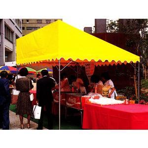 シンプルパワーテントA型 1間×1.5間 カラー天幕|the-tent