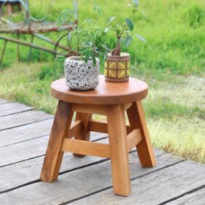 スツール 木製 子供 椅子 おしゃれ ミニスツール 小さい ウッドスツール 丸椅子 子供用 イス か...