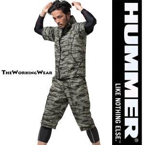 人気のHUMMERシリーズから迷彩カラーの裏メッシュ半袖ジャケット登場 軽い着心地が快適 大きいサイ...