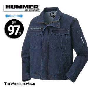【HUMMERシリーズストレッチブルゾン】 作業着 作業服 ハマー 綿 大きいサイズ|the-workingwear
