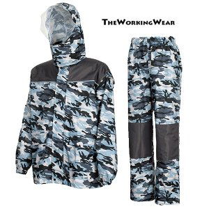 作業服 作業着 防寒着の専門店The Working Wear/防寒用/3415-4507 レインストロングα グレー 3L 4Lサイズ|the-workingwear
