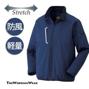 軽量でストレッチの効いた防風中綿ジャケット 作業にカジュアルに多彩な用途で人気です。 大きいサイズも...