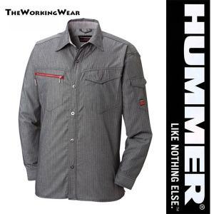 人気のHUMMERシリーズのサマーシャツ 立体裁断で動きラクラク! ストライプ柄でシャープな印象です...