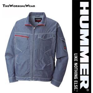 人気のHUMMERシリーズのサマーブルゾン 立体裁断で動きラクラク! ストライプ柄でシャープな印象で...