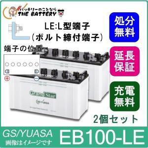 【2個セット】 EB100 -LE L形端子(ボルト締付端子) EBグランドスターシリーズ|thebattery
