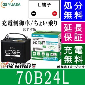 60B24L ジーエス・ユアサ ECO.R(エコ.アール)シリーズ GS/YUASA国産バッテリー thebattery