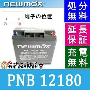 PNB12180 セニアカー 車椅子バッテリー サイクルバッテリー ニューマックス 互換 HF17-12 / LC-X1220 / GP12170 制御弁式 産業用 AGMバッテリー|thebattery