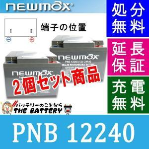 PNB12240 セニアカー 車椅子 バッテリー 2個セット ニューマックス 互換 HC24-12 制御弁式 産業用 AGMバッテリー|thebattery