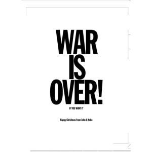 ジョン・レノン クリアファイル WAR IS OVER|thebeatles