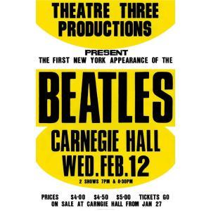 限定版リトグラフ額『1964年ビートルズ・カーネギー・ホール公演ポスター』|thebeatles