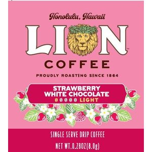 送料無料クリックポスト!!期間限定 ライオンコーヒー ドリップストロベリーホワイトコーヒー 10P theboninc