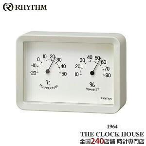 リズム プラス Aシリーズ 掛置兼用 温湿度計 A6サイズ ホワイト 9CZ204SR03 インテリア|theclockhouse-y