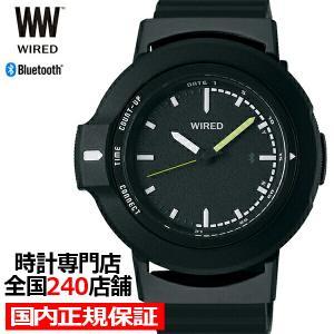 セイコー ワイアード ツーダブ WW タイムコネクト AGAB401 メンズ 腕時計 クオーツ ブラック Bluetooth theclockhouse-y