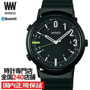 セイコー ワイアード ツーダブ WW タイムコネクト AGAB406 メンズ 腕時計 クオーツ ブラック Bluetooth theclockhouse-y