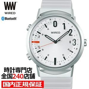 セイコー ワイアード ツーダブ WW タイムコネクト AGAB407 メンズ 腕時計 クオーツ ホワイト Bluetooth theclockhouse-y