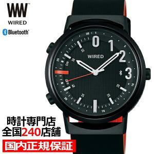 セイコー ワイアード ツーダブ WW タイムコネクト AGAB409 メンズ 腕時計 クオーツ ブラック Bluetooth theclockhouse-y