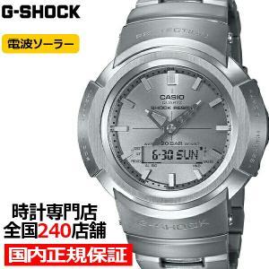 G-SHOCK Gショック フルメタル AWM-500D-1A8JF メンズ 腕時計 電波ソーラー アナデジ シルバー 国内正規品 カシオ|theclockhouse-y