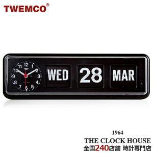 TWEMCO トゥエンコ パタパタ時計 フリップクロック パーペチュアルカレンダー 置き時計 ブラック BQ-38|theclockhouse-y