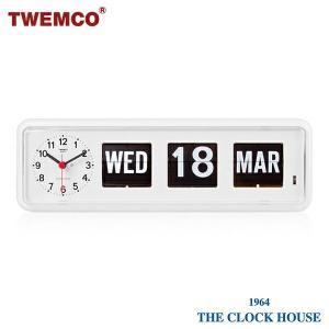 TWEMCO トゥエンコ 置時計 パタパタ時計 フリップクロック パーペチュアルカレンダー BQ-38 WHITE|theclockhouse-y