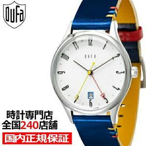 ドゥッファ バウハウス100周年記念モデル DF-9006-0C メンズ 腕時計 クオーツ 革ベルト ホワイト GMT theclockhouse-y