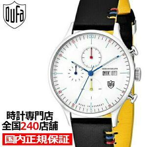 ドゥッファ バウハウス100周年記念モデル DF-9021-100Y メンズ 腕時計 クオーツ 革ベルト ホワイト クロノグラフ theclockhouse-y