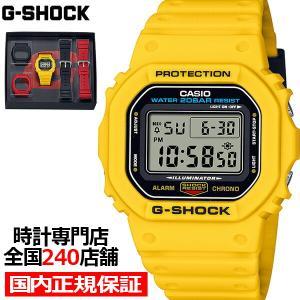 10月22日発売/予約 G-SHOCK Gショック 初期カラーモデル リバイバル ベゼル&バンドセット DWE-5600R-9JR メンズ 腕時計 電池式 スクエア 国内正規品 カシオ theclockhouse-y