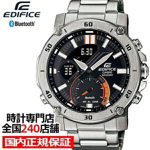 カシオ エディフィス スマートフォンリンク ECB-20YD-1AJF メンズ 腕時計 電池式 Bluetooth メタルバンド シルバー|theclockhouse-y
