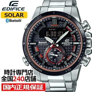 カシオ エディフィス スマートフォンリンクモデル ECB-800DB-1AJF メンズ 腕時計 ソーラー Bluetooth ブラック|theclockhouse-y