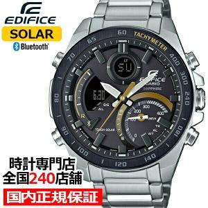 カシオ エディフィス スマートフォンリンクモデル ECB-900YDB-1CJF メンズ 腕時計 ソーラー Bluetooth ブラック×ゴールド|theclockhouse-y