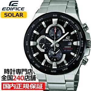 カシオ エディフィス スタンダードモデル EFR-541SBDB-1AJF メンズ 腕時計 ソーラー クロノグラフ ブラックIP|theclockhouse-y