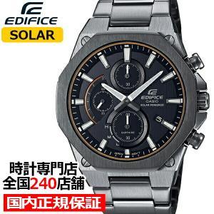 カシオ エディフィス スリム&ソーラー EFS-S570YDC-1AJF メンズ 腕時計 ソーラー クロノグラフ オクタゴン 薄型ケース グレー|theclockhouse-y