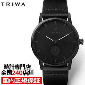 TRIWA トリワ FALKEN ファルケン ミッドナイト FAST115-CL010101 メンズ レディース 腕時計 クオーツ 革ベルト ブラック|theclockhouse-y