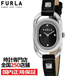 FURLA フルラ STUDS INDEX フルラスタッズインデックス FL-WW00008001L1 レディース 腕時計 クオーツ 電池式 革ベルト ブラック theclockhouse-y