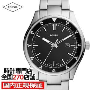フォッシル ベルマー FS5530 メンズ 腕時計 クオーツ ステンレス ブラック カレンダー 値下げ|theclockhouse-y