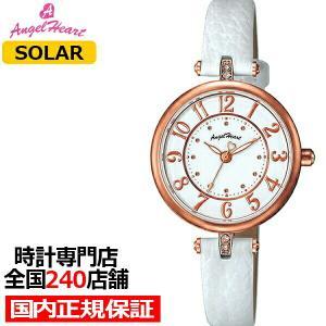 エンジェルハート イノセントタイム IT29P-WH レディース 腕時計 ソーラー レザー ホワイト スワロフスキー|theclockhouse-y