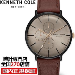 ケネスコール ドレススポーツシリーズ KC15189002 メンズ 腕時計 クオーツ レザー グレー カレンダー 値下げ theclockhouse-y