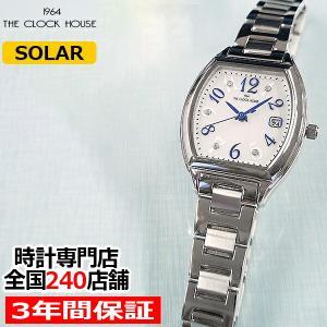 ザ・クロックハウス ビジネスカジュアル LBC1005-WH1A レディース 腕時計 ソーラー トノー ステンレス ホワイト 雑誌掲載 着用モデル|theclockhouse-y