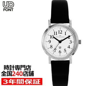 ザ・クロックハウス LUD5001-WH1B ユニバーサルデザイン 腕時計 レディース クオーツ 黒レザー ホワイト UD THE CLOCK HOUSE|theclockhouse-y