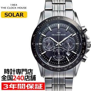 ザ・クロックハウス MBC1003-BK2A ビジネスカジュアル メンズ 腕時計 ソーラー ステンレス ブラック メタル クロノグラフ 雑誌掲載|theclockhouse-y