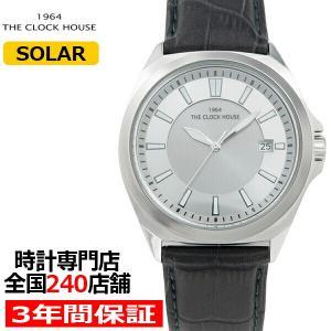 ザ・クロックハウス ビジネスカジュアル ソーラー MBC1004-GY1B メンズ 腕時計 革ベルト グレー 日付機能 10気圧防水 雑誌掲載|theclockhouse-y
