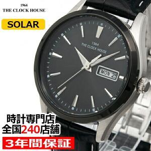 ザ・クロックハウス MBC1005-BK2B ビジネスカジュアル メンズ 腕時計 ソーラー 黒革ベルト ブラック カレンダー 雑誌掲載|theclockhouse-y