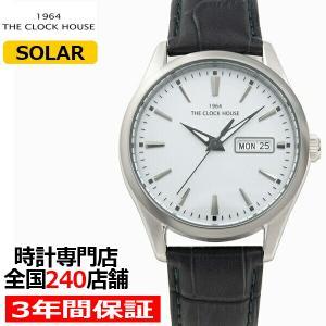 ザ・クロックハウス ビジネスカジュアル ソーラー MBC1005-GY2B メンズ 腕時計 ソーラー 革ベルト グレー デイデイト 10気圧防水 雑誌掲載|theclockhouse-y